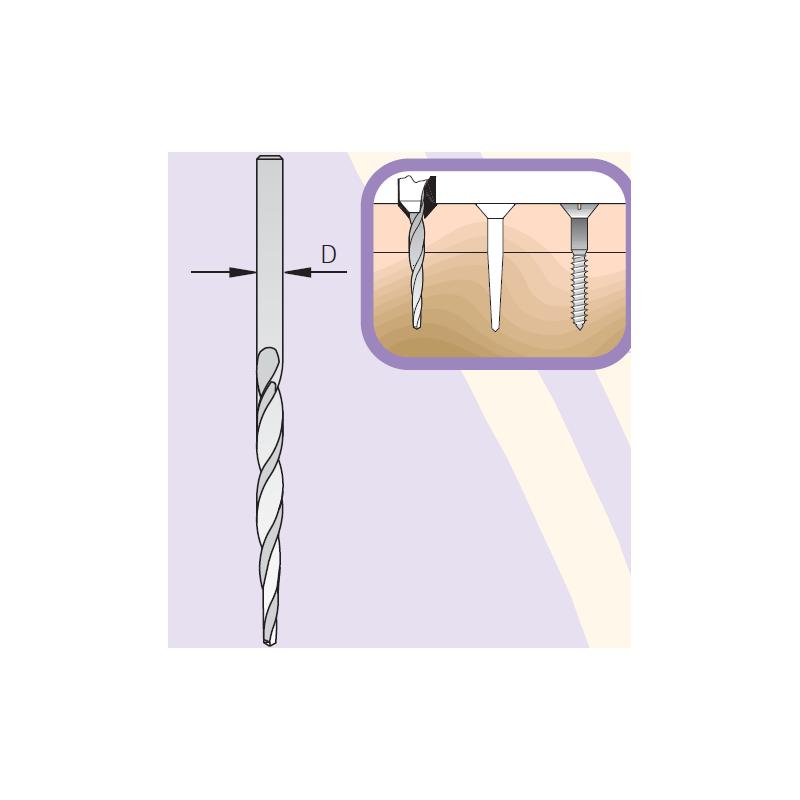 Taper Point Drill Bit, 5.6mm