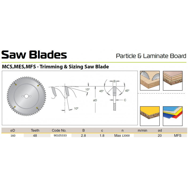 Sawblade 160 X 20 X 048 W,...