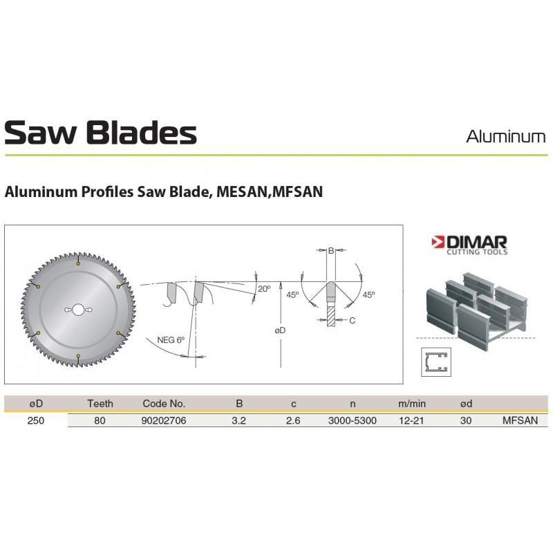 Sawblade 250 X 30 X 080 A,...
