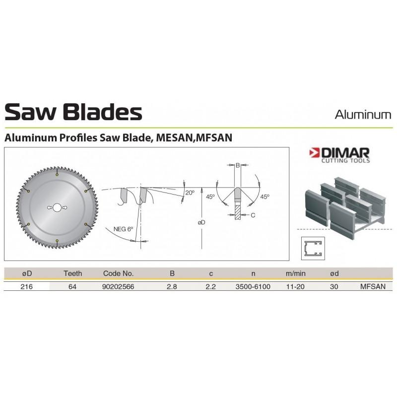 Sawblade 216 X 30 X 064 A,...