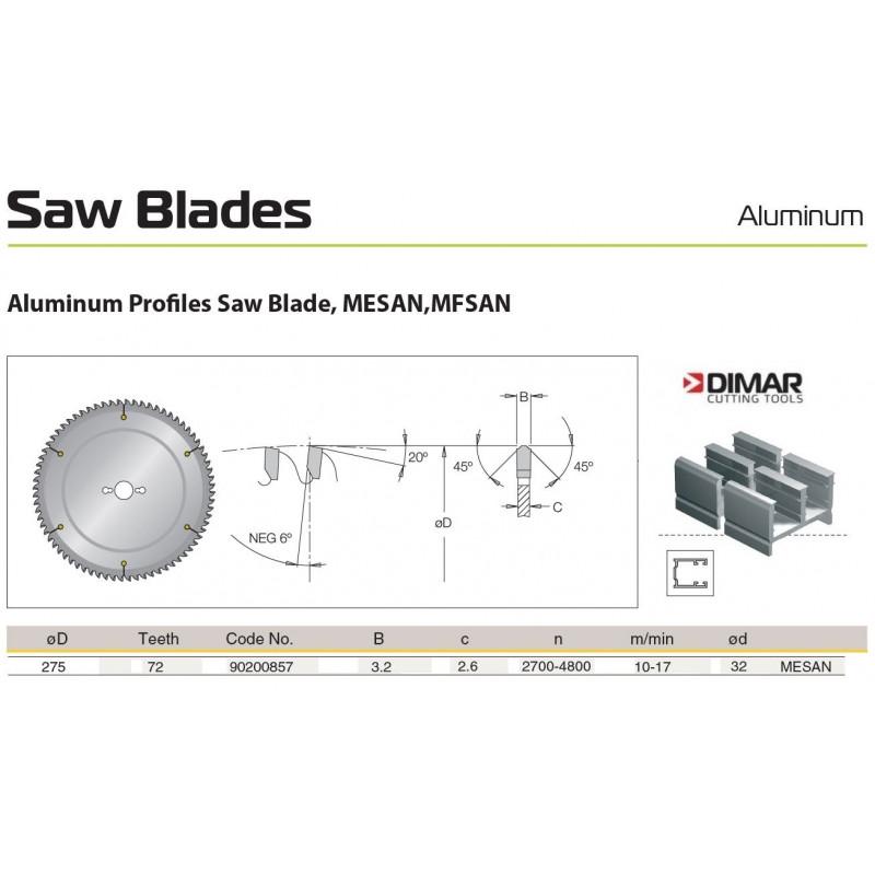 Sawblade 275 X 32 X 072 A,...