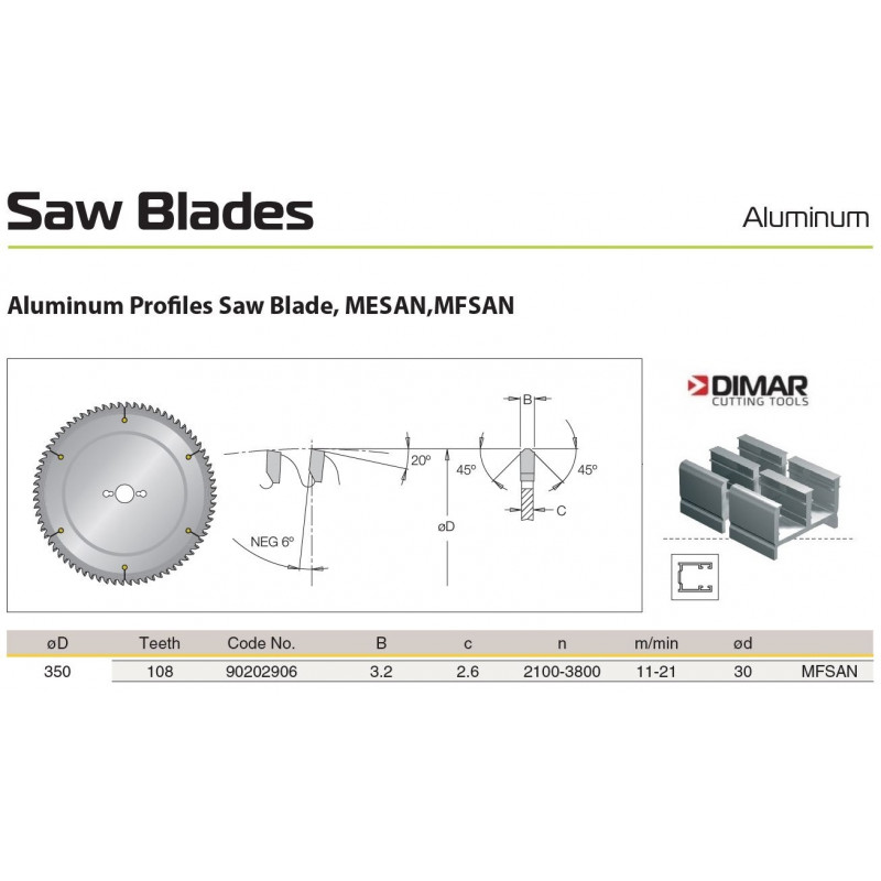 Sawblade 350 X 30 X 108 A,...