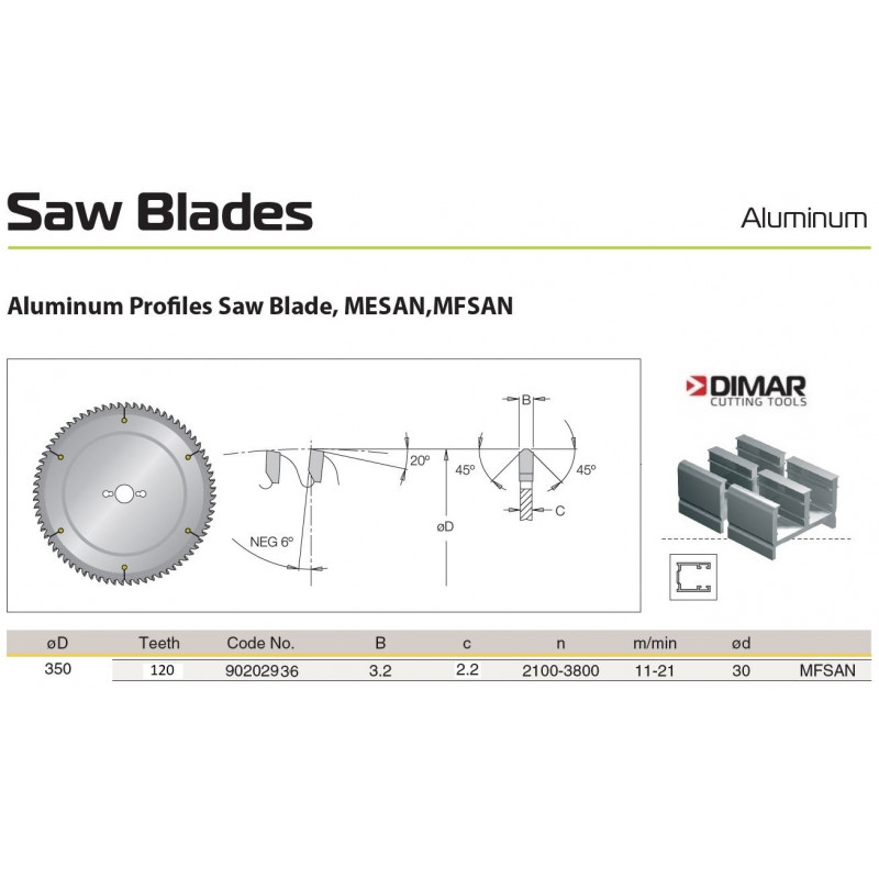 Sawblade 350 X 30 X 120 A,...