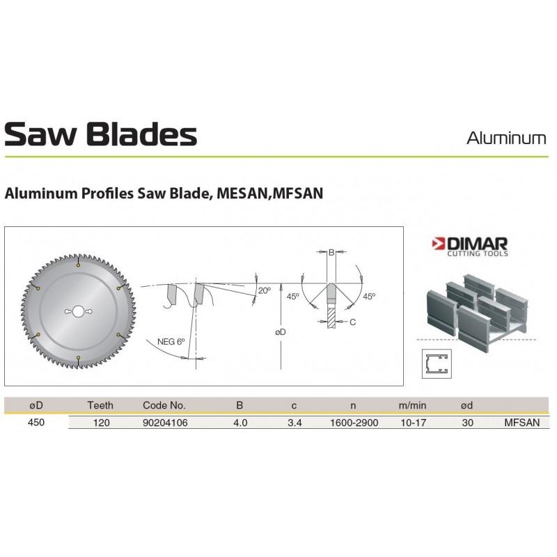Sawblade 450 X 30 X 120 A,...