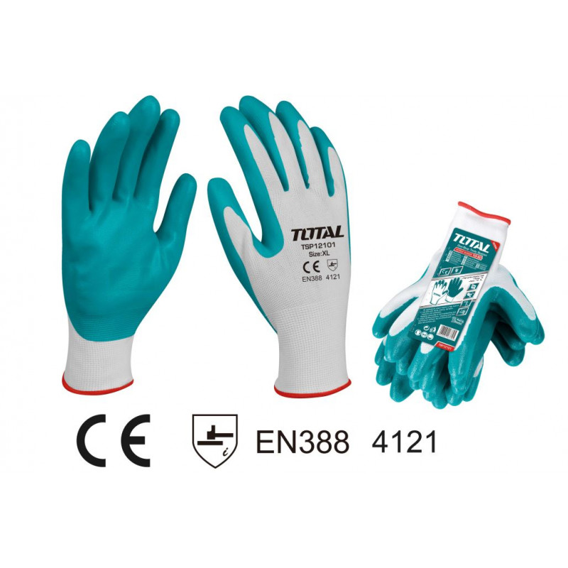 Safety Gloves Nitrile - TOTAL