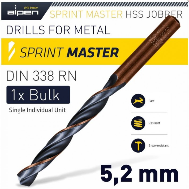 Drill Bit Industrial, 09.5mm Quality