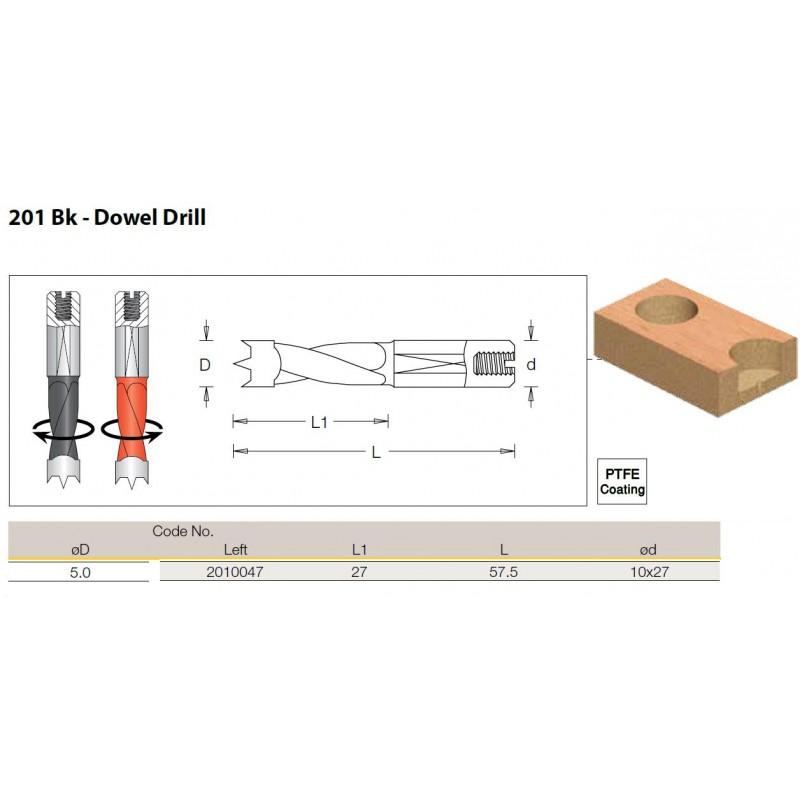 Dowel Drill, 5.0mm x 57.5 -...