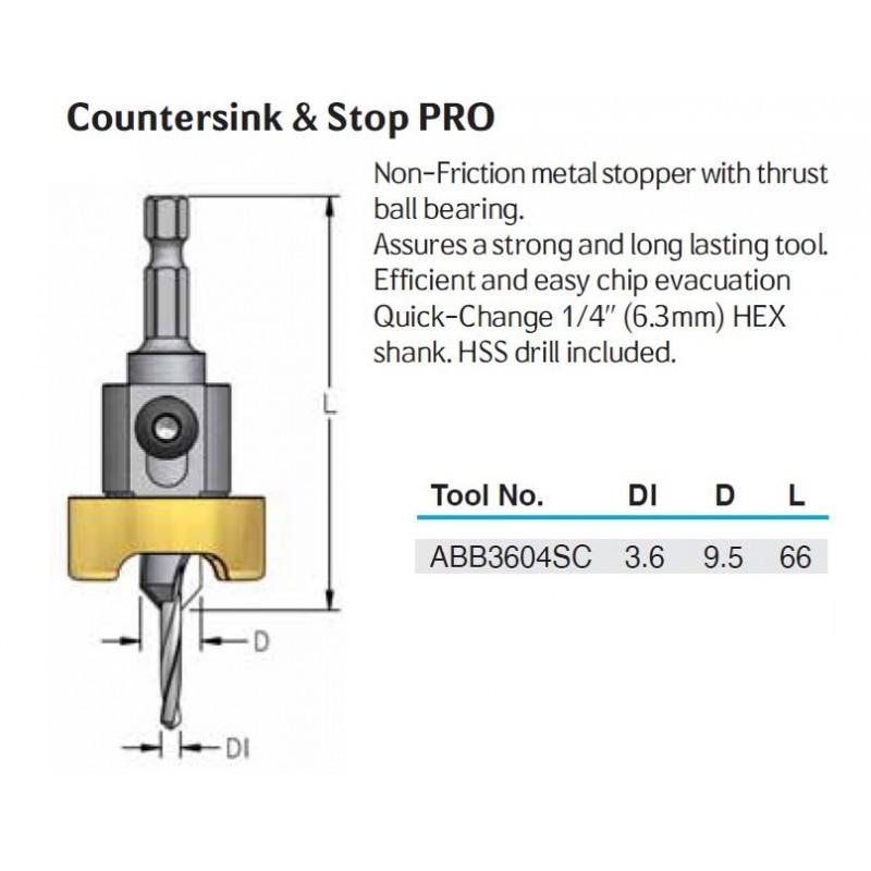 Countersink, D 09.5  X  D1...