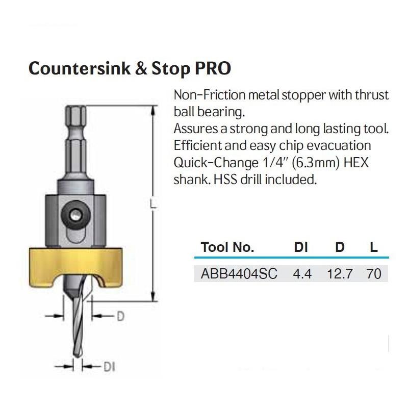 Countersink, D 12.7  X  D1...