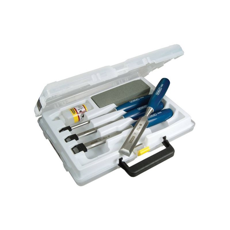 Wood Chisel, 4pc Set + Oil...