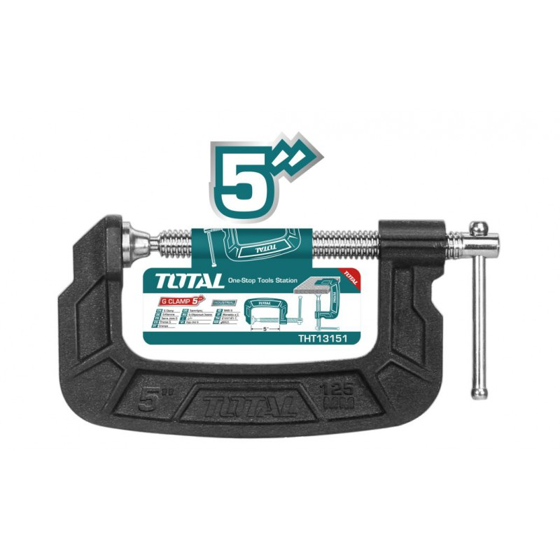 G - Clamp 125mm Malleable...