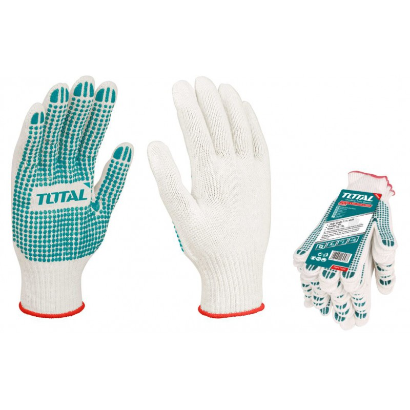 Safety Gloves Knitted PVC -...