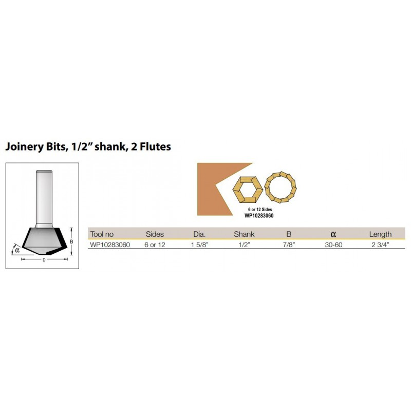Joinery Bit Set 30 + 60 Deg