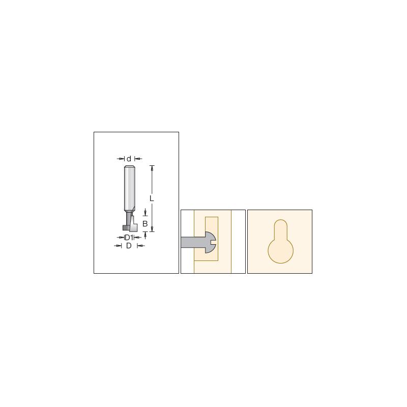 Keyhole Slot, 12.7 x 9.5mm...