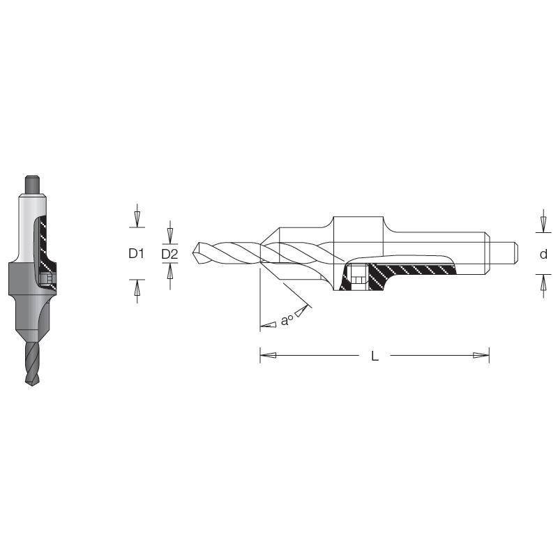 Countersink, 12.7  X  6.3mm...